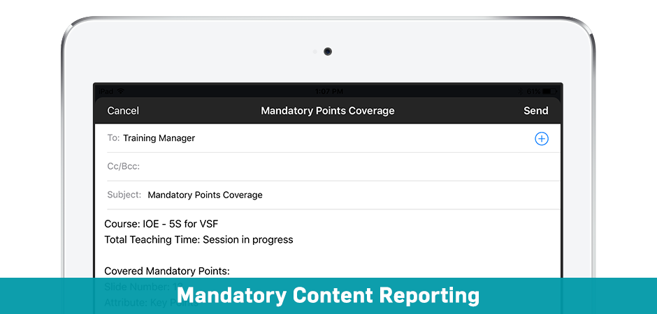 Mandatory Content Reporting Solutions